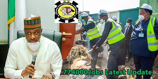 774,000 Jobs Latest Update | FG set to commence 3 Months payment to beneficiaries