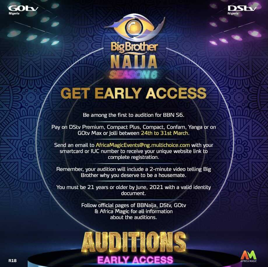 Big Brother Naija Season 6 Early Access Registration On Going   N90M To Be Won