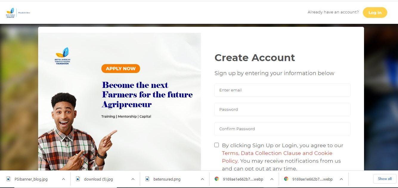 Agricultural Entrepreneurship grant Application Portal