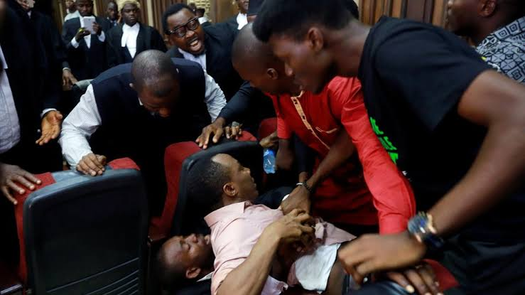 Nnamdi Kanu Trial: Sowore Beaten By DSS At Abuja Federal High Court