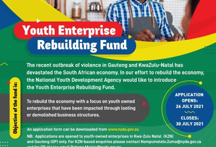 NYDA Youth Enterprise Rebuilding Fund Application 2021
